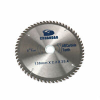 6 Inch Circular Saw Blade Cutting Disc Wood Aluminum Powerful Tool 60 Teeth