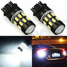 2x Super WHITE Reverse Backup Lights 3156 3157 24-SMD High Power LED Chip Bulb
