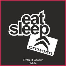 Eat Sleep Citroen Decal, Vinyl, Sticker, Graphics, Car, JDM, EURO, C2 DS3, N2177