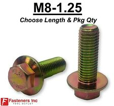 M8 125 Grade 88 Metric Flange Bolts Yellow Zinc Choose Length Amp Qtys