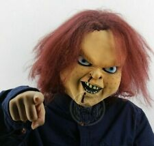 Mask Scary Halloween Chucky Costume Horror Play Fancy Dress Child Doll Cosplay