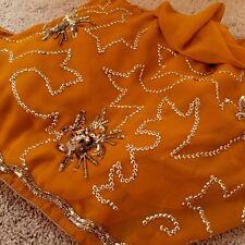 Saree Stunning orange saree with gold