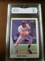 Sammy Sosa 1990 Leaf GMA 8 NM-MT Graded Rookie Card RC#220