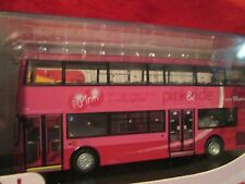 STAGECOACH Pink & ride cambridge B cancer double decker bus New 1:76 UKBUS 1030