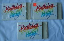 Lot of 3 Packages Birthday Party Invitations with Envelopes Hallmark Unused 23