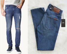 7 FOR ALL MANKIND Paxtyn NWT Skinny Destroyed US Made Men's Jeans Sz 29 RRP $290
