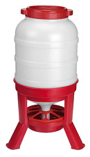 Eton Plastic Tripod Chicken & Poultry Hopper Feeder 40kg - Red