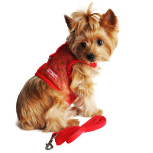 Doggie Design Red Cool Mesh No Choke Dog Harness