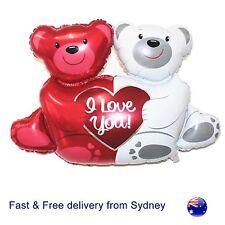 Cute Bear Hug Balloon  I love you teddy XO  heart anniversary romantic balloons