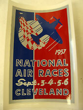 1937 NATIONAL AIR RACE WATER TRANSFER DECAL