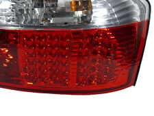DEPO 2002-2005 AUDI A4 / S4 B6 CHASSIS 4D SEDAN RED / CLEAR LED TAIL LIGHTS 8E
