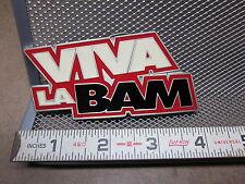 VIVA LA BAM pewter Belt Buckle MTV show NEW Jackass skateboarding 2004
