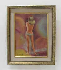 Vintage Framed Painting Nude Woman Scharf