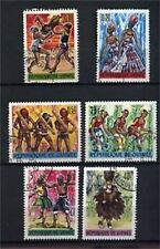 LOT DE TIMBRES OBLITERES DANSE AFRICAINE - GUINEE