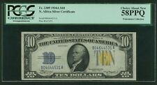 1934-A $10 NORTH AFRICA  WWII EMERGENCY SILVER CERTIFICATE, CERTIFIED PCGS 58PPQ