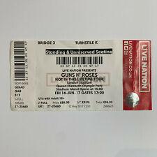 Guns N' Roses 16 June 2017 London Stadium concert Ticket Stub