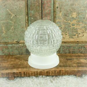 Vintage Art Deco Clear Glass Lamp Shade Ceiling Light Plafonnaire