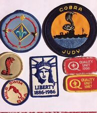BOY SCOUT Patches/ lot of 7/ Assorted/- Collectible- Ships USA