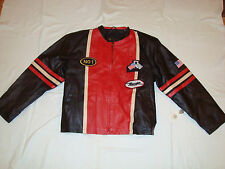 NEW DIAMOND PLATE MEN'S GENUINE LEATHER RACING JACKET WITH TAG SIZE 3XL