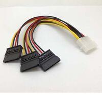 4 pin IDE Molex to 3 Serial ATA SATA Power  Splitter  Cable connectors