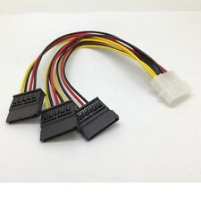 4 pin IDE Molex to 3 Serial ATA SATA Power  Splitter  Cable connectors  /SX