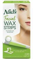 Nad's facial wax 24 Strips Hypoallergenic-Lasts 8 Weeks-Sealed Box