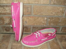 SPERRY TOP-SIDER A/O 2 EYE RASPBERRY PATENT LEATHER BOAT SHOE 7 M/ 9836107/$85