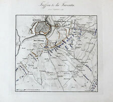 1840 Mantua Mantova Napoleon Italienfeldzug 1796 Kupferstich-Plan