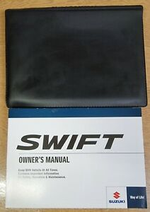 GENUINE SUZUKI SWIFT 2017-2020 OWNERS MANUAL HANDBOOK AUDIO WALLET PACK R-72