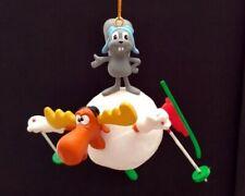 Rocky & Bullwinkle Skiin' Christmas Ornament 1995