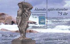 Aland Finland 1997 MNH Sheet - 75 Years of Aland's Autonomy - Sailboat Hologram