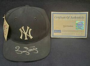DARRYL STRAWBERRY AUTOGRAPHED SIGNED NEW YORK YANKEES HAT STEINER COA