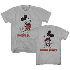 Mickey Mouse Back Front Vintage Disneyland World Adult Men's Graphic T-Shirt Tee