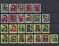 HUNGARY 1943-1945, Mi#657-698, Part set, MH/MNH
