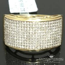 Mens 100% Real 10k Yellow Gold .59ct Genuine Natural Thick Wedding Band Ring New