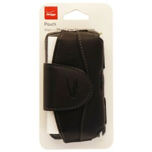 Verizon Universal Leather Pouch with Rotating Clip - Black (UNIPDASDPCH2)