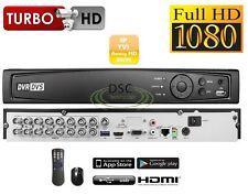Pentabrid 16Channel 1080P 5-in-1 DVR support HD(CVI,TVI,AHD, IP, 960H) Camera