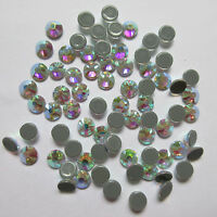 White Crystal AB Hot Fix Rhinestones Crystals Hotfix Flatback Strass for Clothes