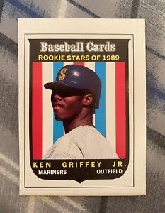 1989 Baseball Cards Magazine KEN GRIFFEY JR Panel #63 *Card Needs Hand-Cut*