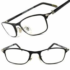 Hot Stylish Rectangle Rx-Able Prescription Mens Womens Eye Glasses Black Frames
