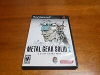 Metal Gear Solid 2: Substance (Sony Playstation 2) PS2 CIB Complete TESTED