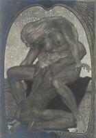 """FIDUS, H. HÖPPENER (1868), """"Trauer/Fürsorge"""", Jugendstil, Fotografie"""