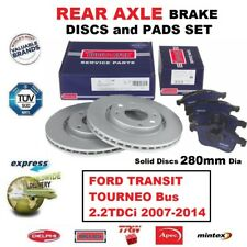 REAR BRAKE PADS + DISCS (280mm) for FORD TRANSIT TOURNEO Bus 2.2TDCi 2007-2014