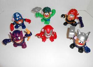 MARVEL AVENGERS Mini Mr Potato Head Mixable Super Heroes Lot 6 Figures 28Pcs