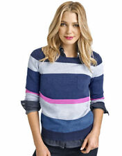 Cotton Crewneck Striped Jumpers & Cardigans for Women