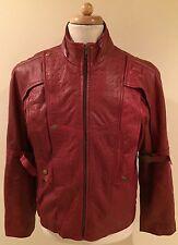 Rare Real Leather RL Bomber Cordovan Stylish Leather Zip Up Jacket Women's Sz M