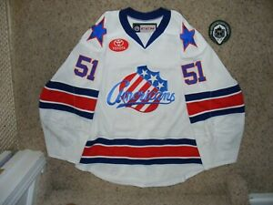 Rochester Americans #51 Kyle Criscuolo 2017 - 18 White Game Worn Jersey