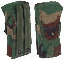 ar 15 Magazine Pouch M16 M4 AR15 A2 Mag Pouch Woodland (BDU) Camo set of 2 (Two)