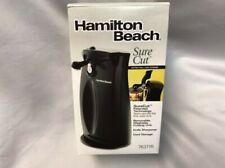 Hamilton Beach Sure Cut Electric Can Opener plus black open box
