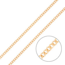4x3 Classic Fine Curb Unfinished Chain Rose Gold Plated - 1 Metre (H44/9)